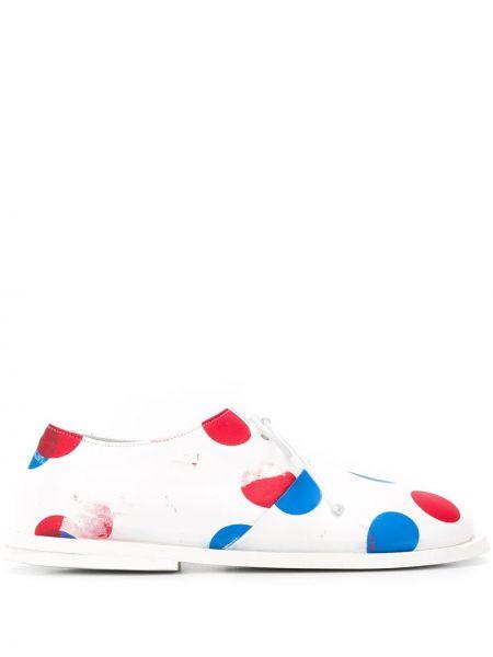 Туфли на шнуровке в горошек Marsèll