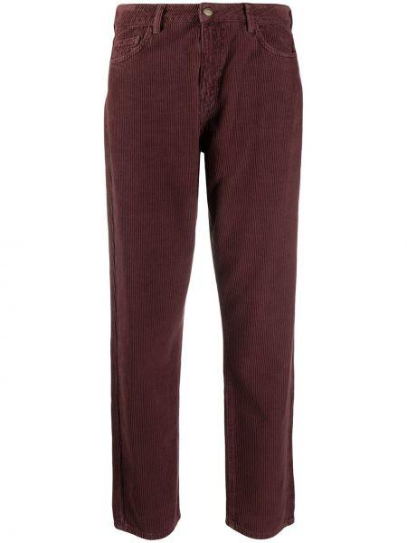 Красные укороченные брюки с карманами вельветовые с заплатками Ba&sh