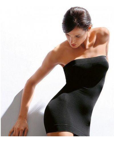 Бесшовное черное платье мини из микрофибры Greenice