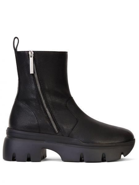Czarny buty na pięcie matowy okrągły na pięcie Giuseppe Zanotti