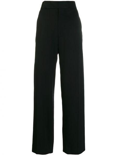 Черные брюки с карманами с высокой посадкой на молнии Haider Ackermann