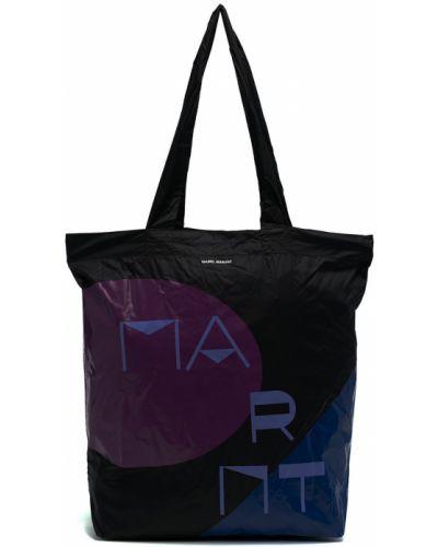 Открытая черная сумка шоппер Isabel Marant