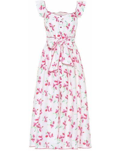 Розовое спортивное льняное платье миди Gül Hürgel