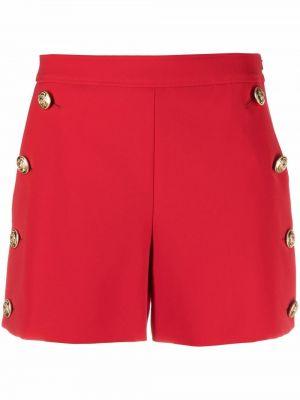 Красные шорты с завышенной талией на пуговицах Boutique Moschino