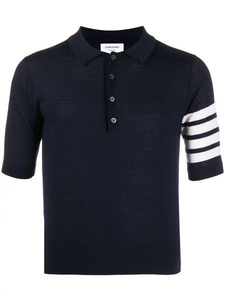 Koszula krótkie z krótkim rękawem klasyczna z kołnierzem Thom Browne