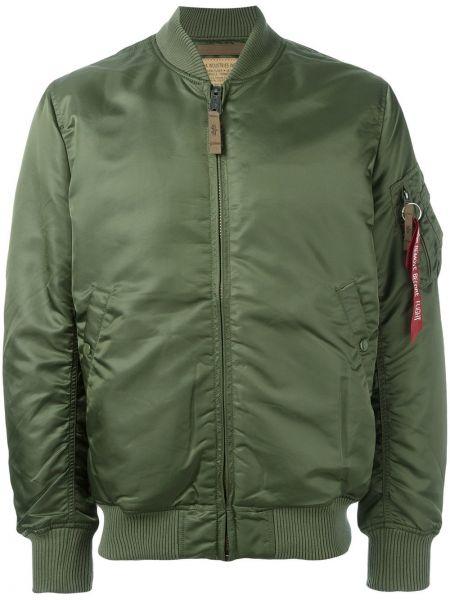 Куртка на молнии зеленая Alpha Industries