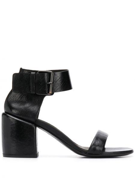 Czarne sandały skorzane klamry Marsell