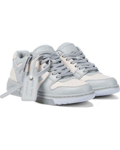 Кожаные белые кроссовки для офиса Off-white