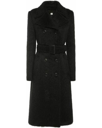 Черное пальто с поясом Sportmax