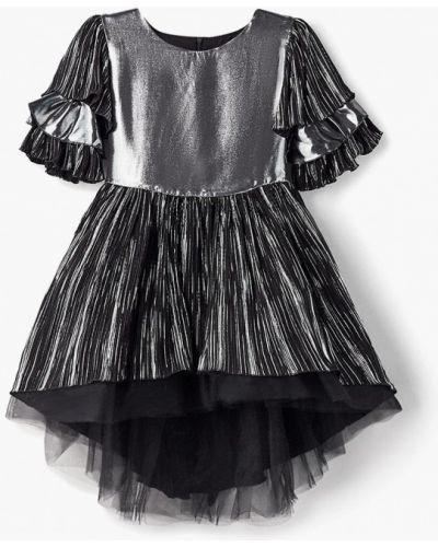 Платье на торжество серебряного цвета Shened
