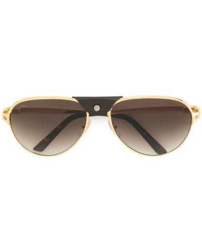 Солнцезащитные очки металлические Cartier