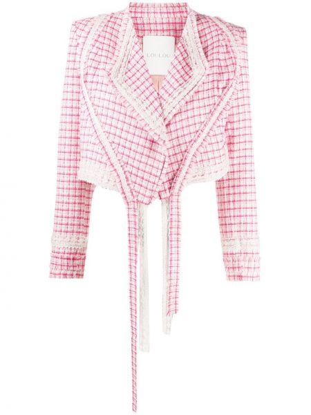 Розовый короткая куртка с бахромой Loulou
