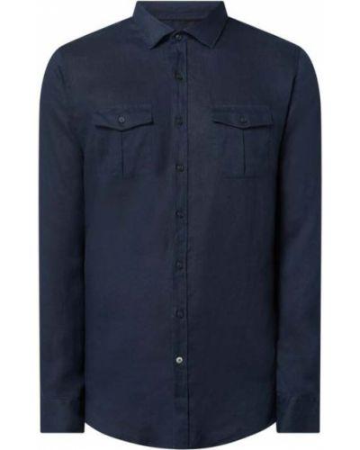 Koszula slim z długimi rękawami - czarna S.oliver Black Label