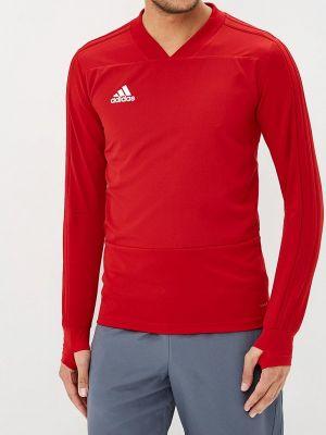 Красный спортивный лонгслив Adidas