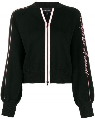 Черная куртка с манжетами Emporio Armani