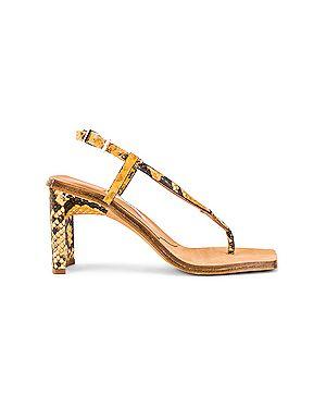 Коричневые кожаные туфли с тиснением из натуральной кожи на каблуке Miista