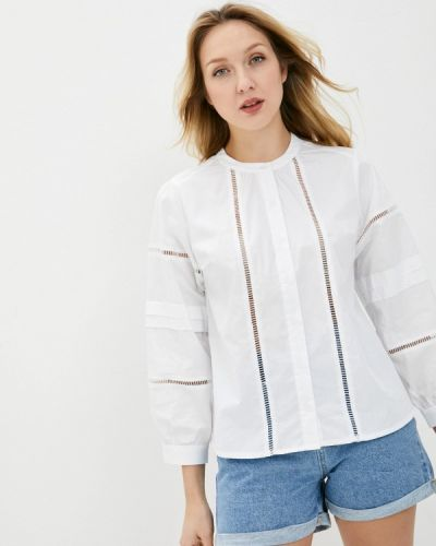 Белая блузка с длинными рукавами снежная королева