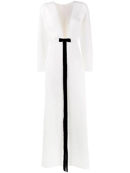 Вечернее платье с V-образным вырезом на молнии Loulou