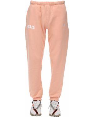 Ciepłe prążkowane różowe joggery Felt - For Every Living Thing