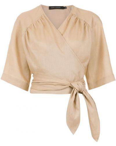 Блузка кружевная с запахом Andrea Marques