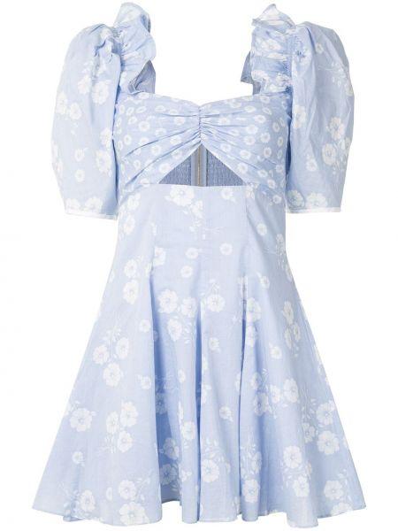 Расклешенное платье мини со вставками на молнии с вырезом Alice Mccall