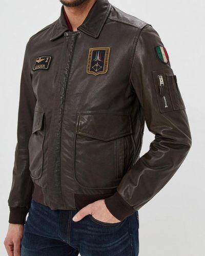 Кожаная куртка коричневый Aeronautica Militare