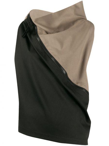 Czarny top bez rękawów wełniany 132 5. Issey Miyake