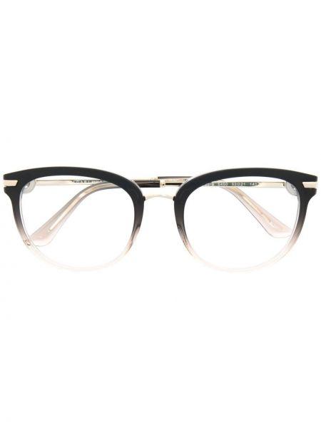 Прямые черные очки металлические Bvlgari