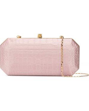 Кожаная золотистая розовая кожаная сумка Tyler Ellis