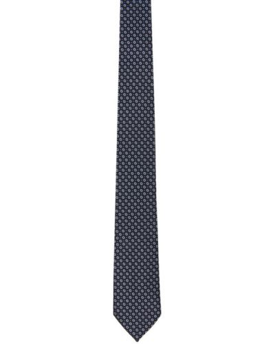 Jedwab czarny krawat Ermenegildo Zegna
