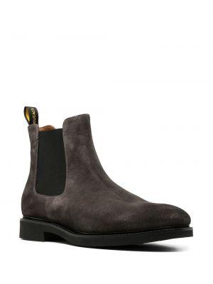 Кожаные ботинки челси - серые Doucal's