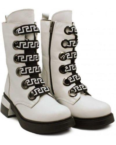 Кожаные ботинки - белые Evromoda