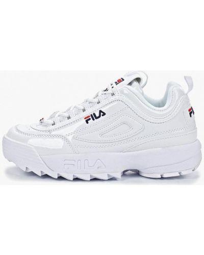 Кроссовки лаковые белый Fila