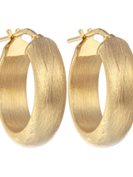 Золотистые желтые серебряные серьги позолоченные с декоративной отделкой Madde