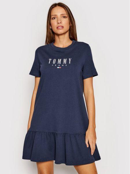 Sukienka jeansowa na co dzień granatowa Tommy Jeans