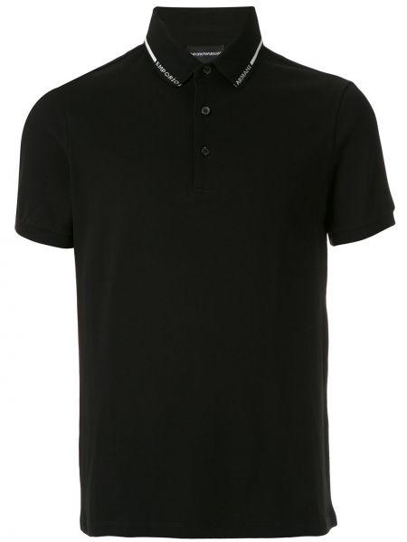 Bawełna bawełna czarny koszulka polo Emporio Armani