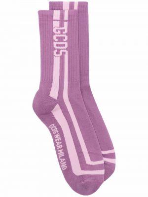 Skarpety bawełniane - fioletowe Gcds