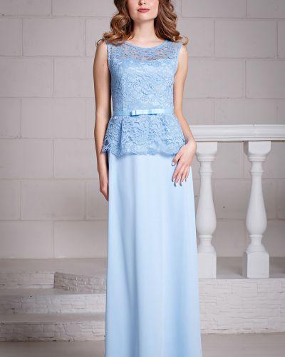 Вечернее платье с баской из вискозы Filigrana
