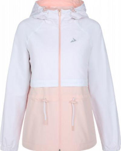 Белая свободная куртка с капюшоном на молнии свободного кроя Demix