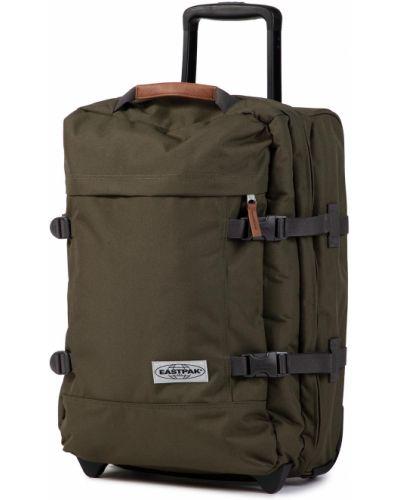 Zielona walizka materiałowa Eastpak