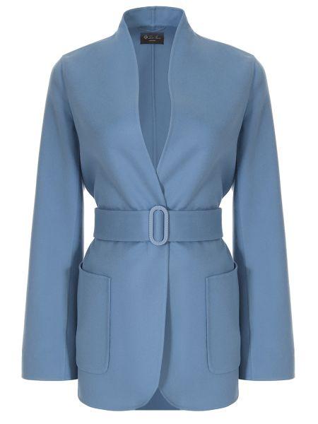 Кашемировое пальто - голубое Loro Piana