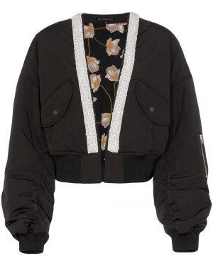Черная короткая куртка с манжетами Blindness