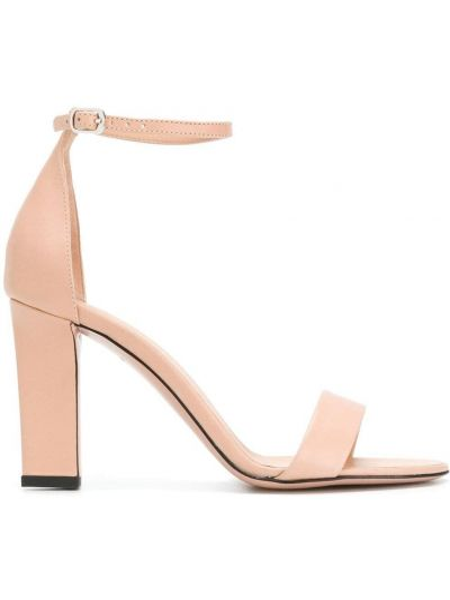 Sandały skórzane - różowe Victoria Beckham