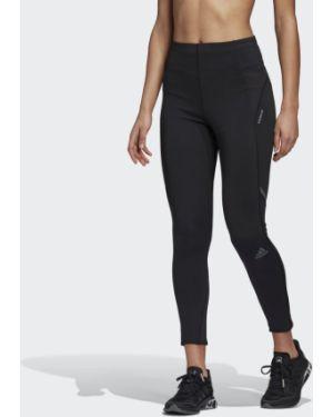 Черные спортивные леггинсы для бега Adidas