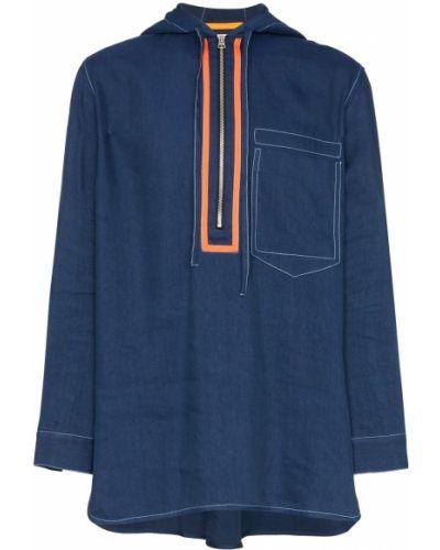 Куртка с капюшоном длинная льняная Pronounce