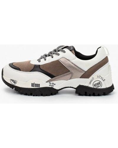 Бежевые кожаные кроссовки Keddo