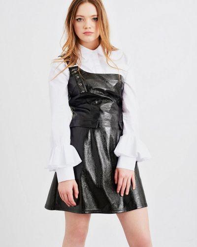Кожаное черное платье Lost Ink.