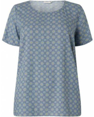 Bluzka z wiskozy - niebieska Only Carmakoma