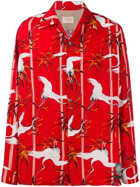 Klasyczna klasyczna koszula z długimi rękawami z jedwabiu Buscemi