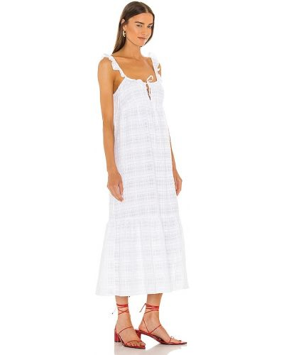 Sukienka midi bawełniana - biała Lovers + Friends